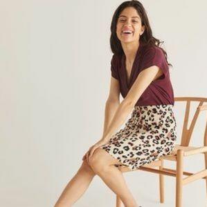 3/22$ REITMANS plus size animal print skirt